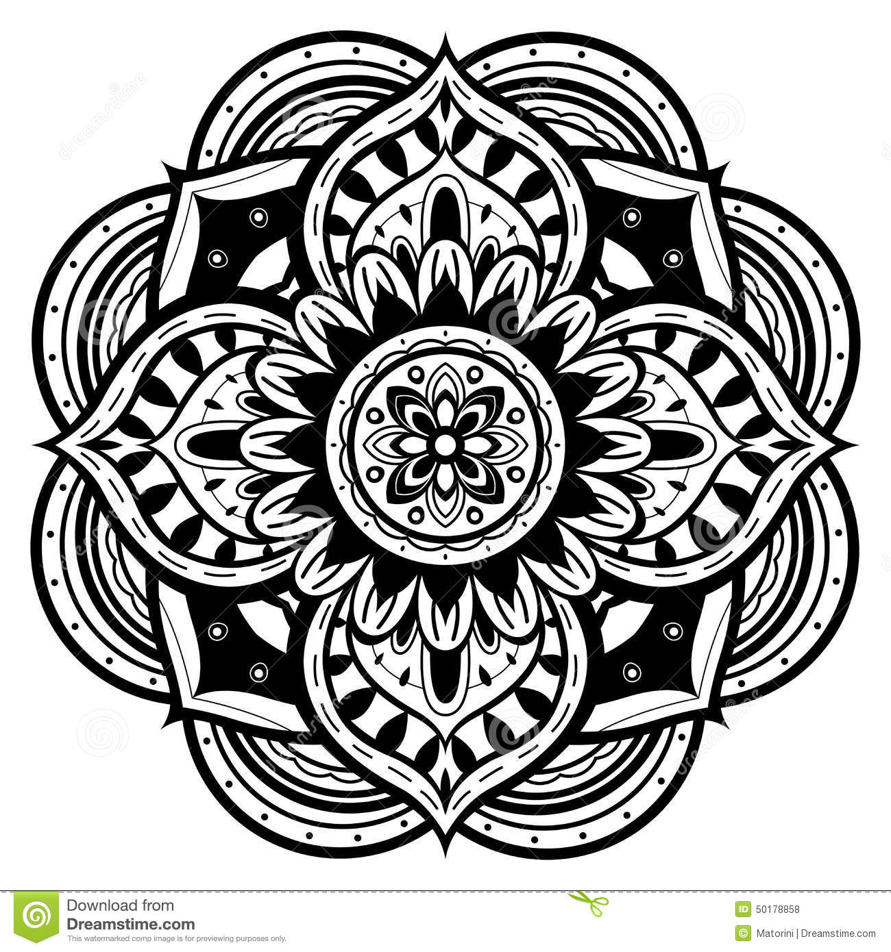 black background coloring pages - black and white mandala stock vector illustration of lace
