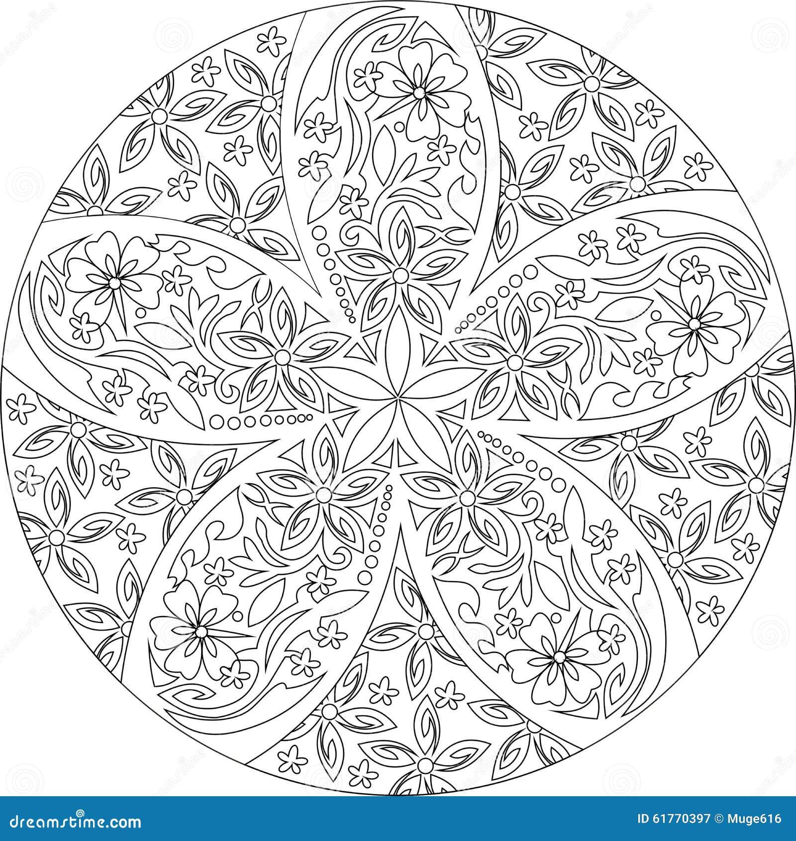 Black And White Mandala Stock Photo Image 61770397