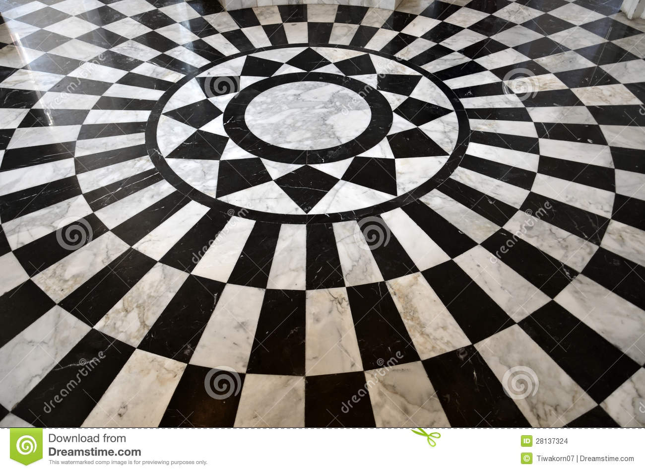 Black And White Marble Floor Pattern Stock Photo Image