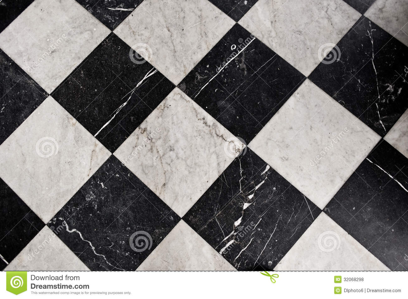 Black And White Marble Tiles Stock Photo Image Of Modern Deco 32068298