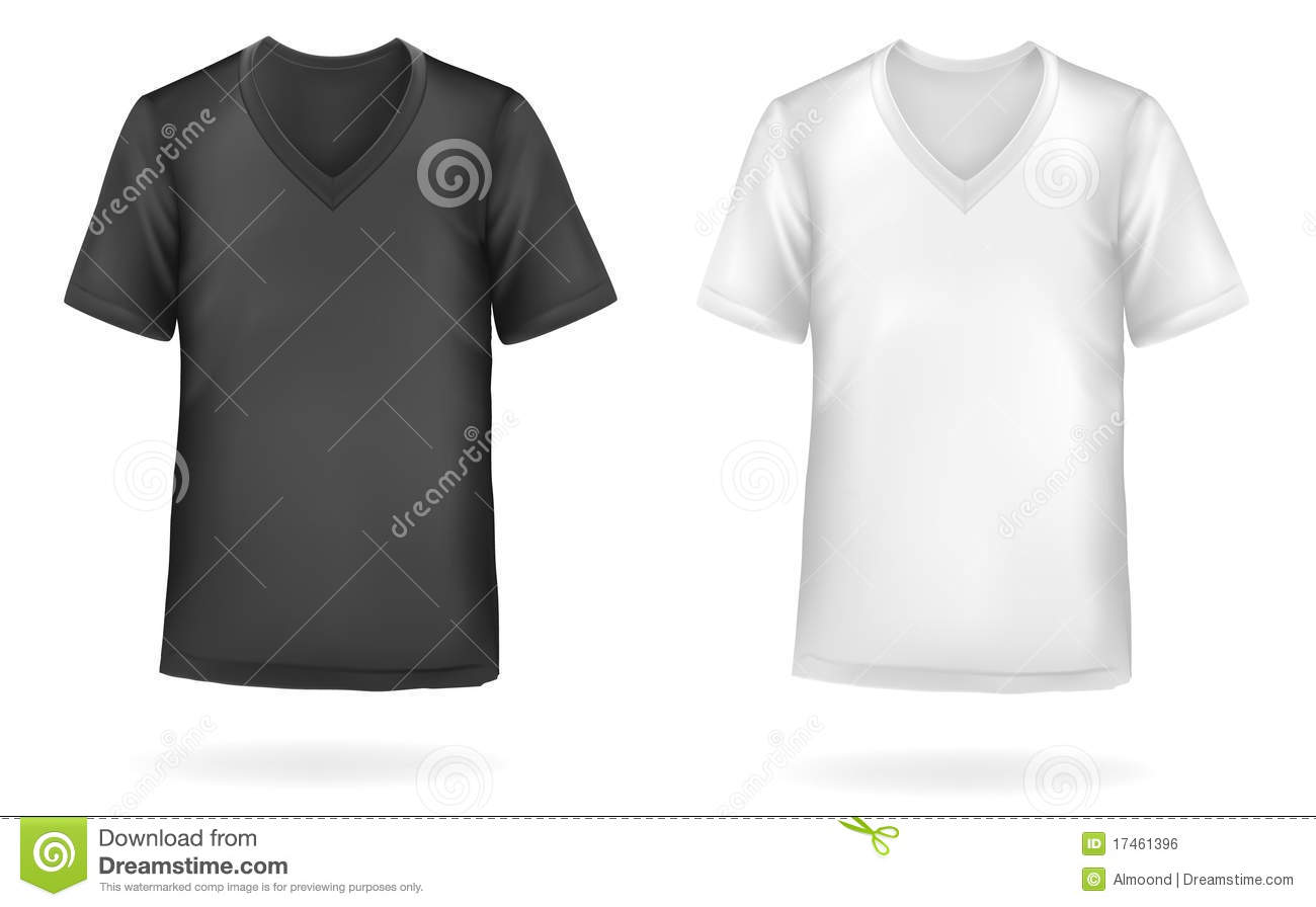 Black t shirt vector - Black And White Men T Shirts Vector