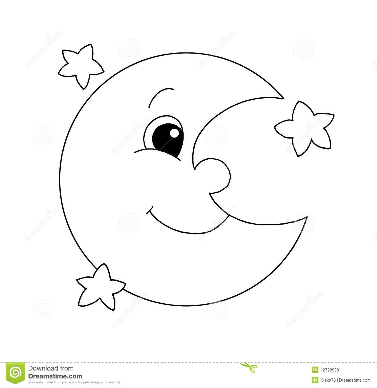 Black And White - Moon Royalty Free Stock Photos - Image: 12728998