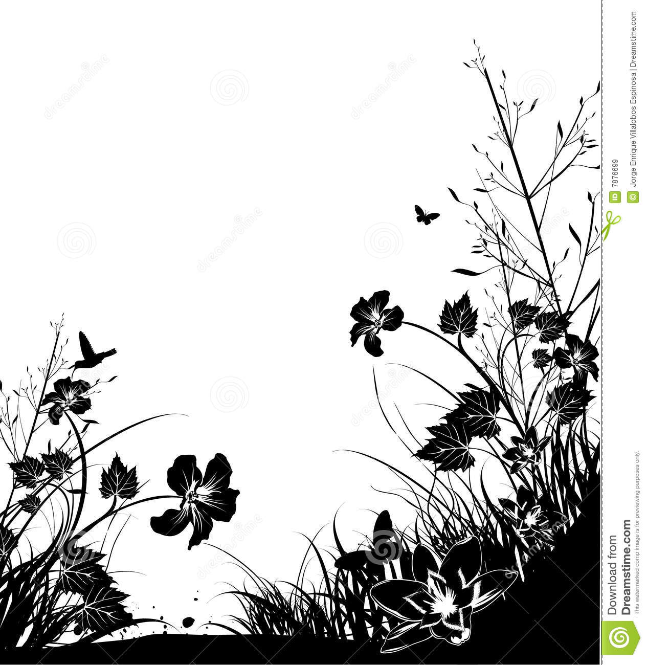 Black and white nature stock vector illustration of black 7876699 black and white nature bush design voltagebd Images