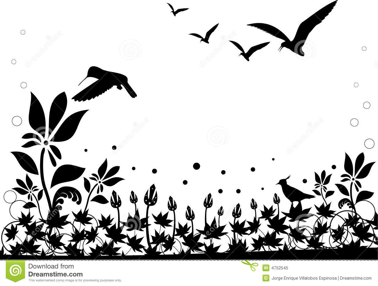 Black And White Nature Vector Stock Vector