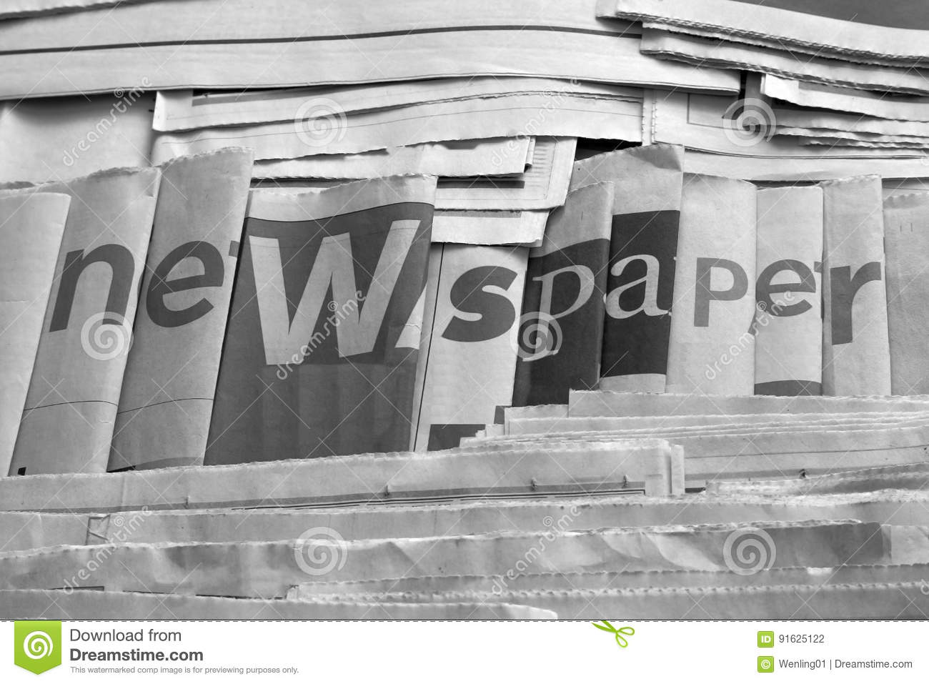 Download Black And White Newspaper Background Stock Photo