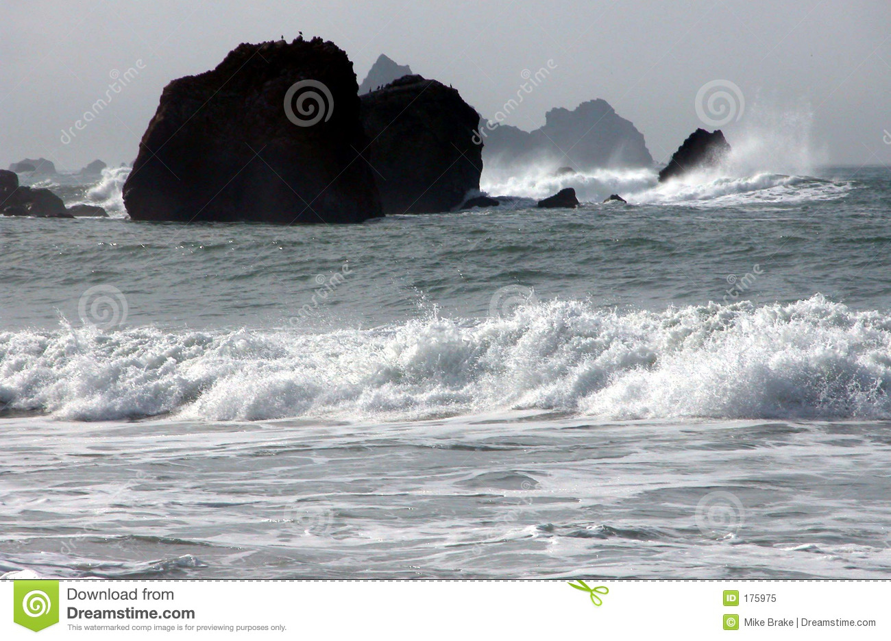 Black And White Ocean Royalty Free Stock Photo - Image: 175975