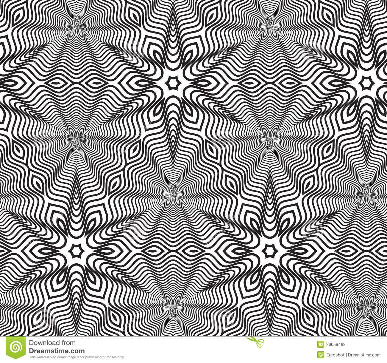 Black and white op art design vector seamless pattern background stock vector illustration of - Design art black and white ...