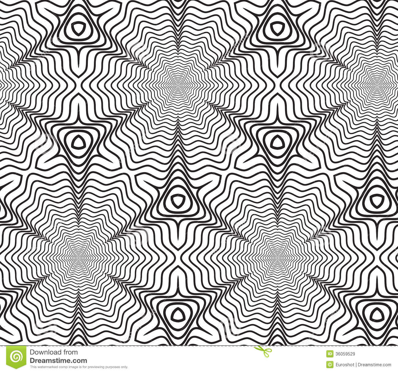 Black And White Line Designs : Black and white op art design vector seamless pattern