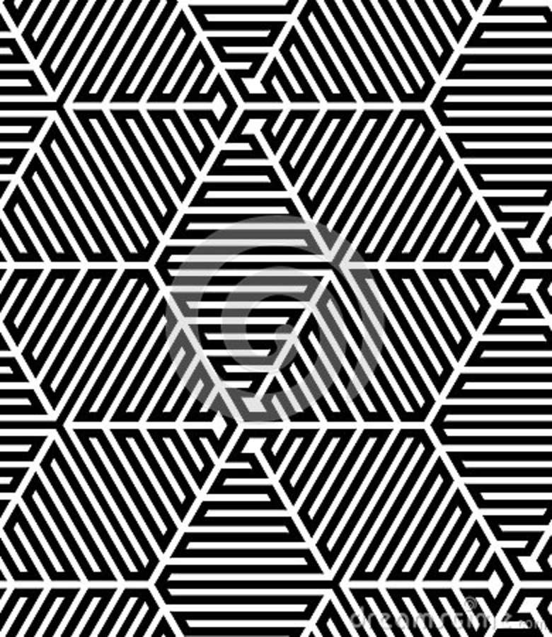 Black And White Line Designs : Black and white op art design stock photo image