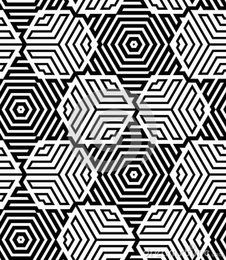 Black And White Line Designs : Black and white op art design royalty free stock images