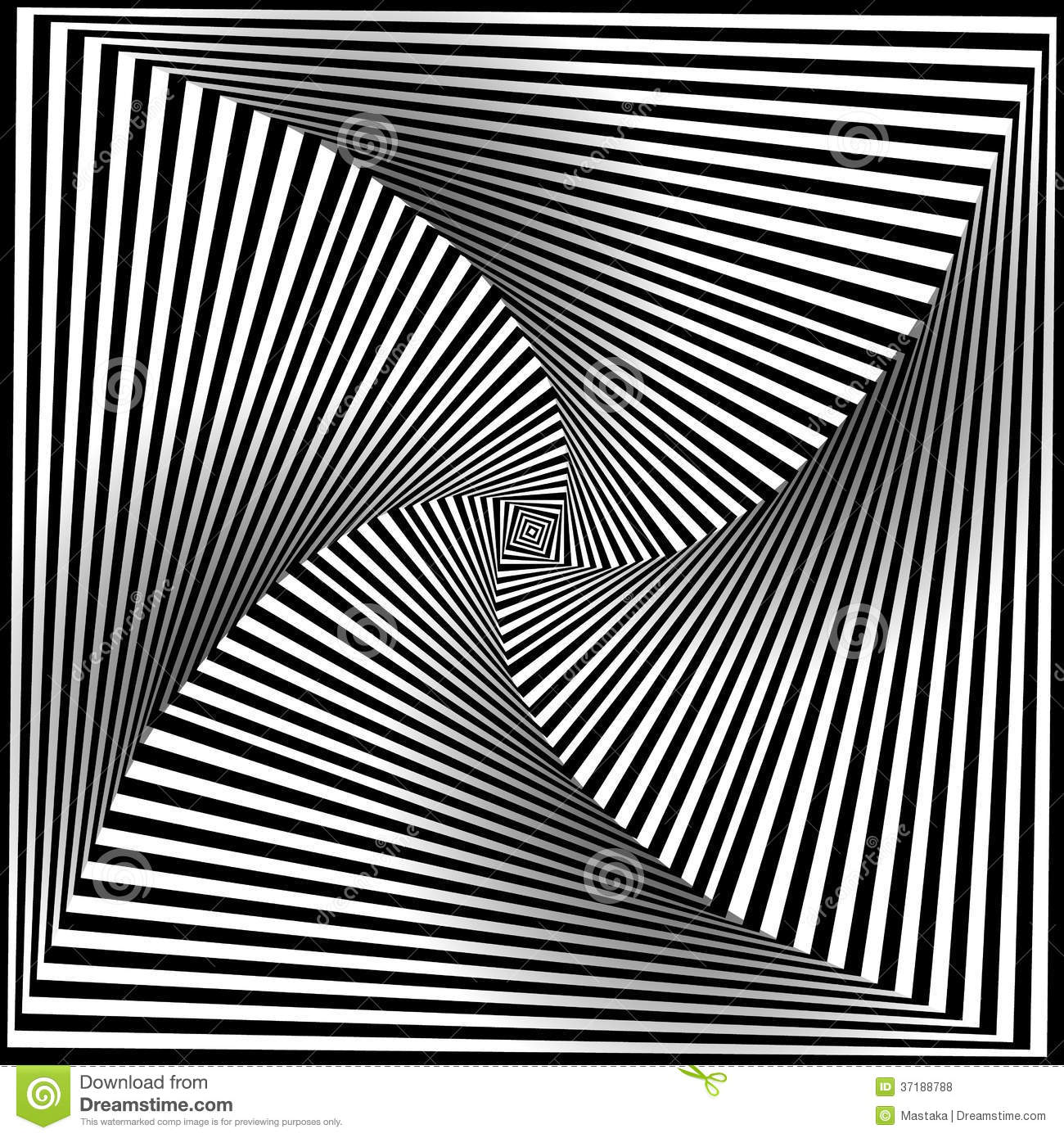 Line Art Optical Illusion : Black and white opt art background stock vector image