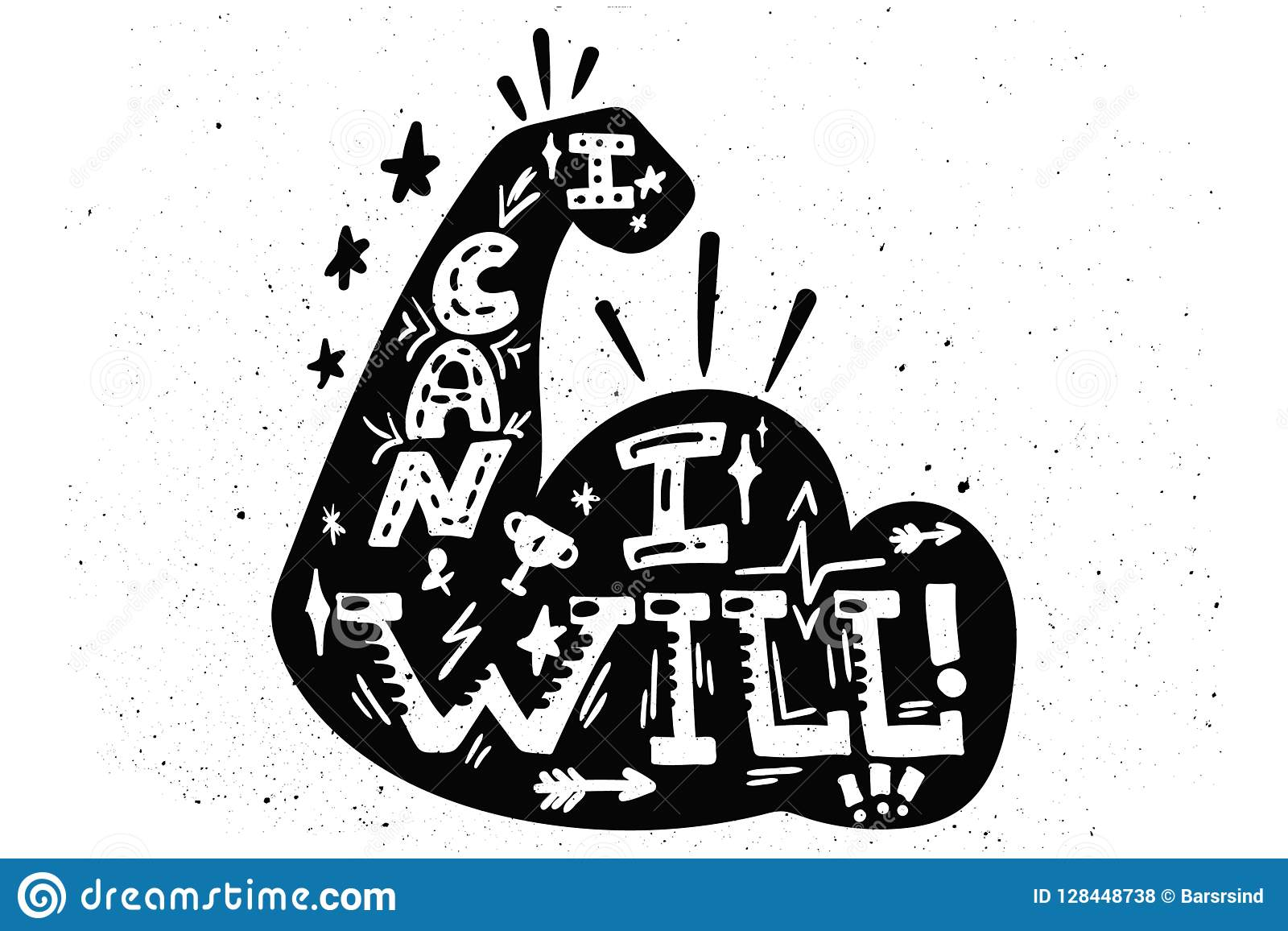 I can I will stock vector  Illustration of isolated - 128448738