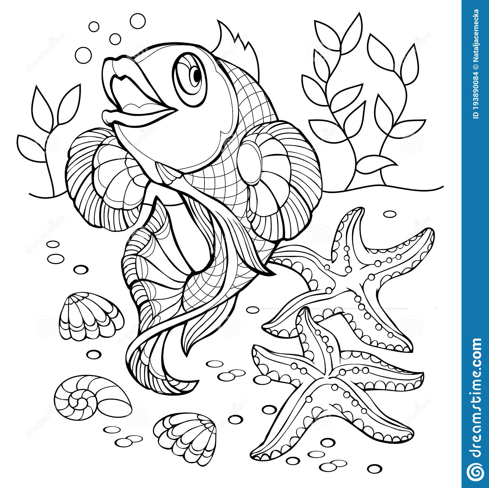 Cute Fish Coloring Page Stock Illustrations 2 190 Cute Fish Coloring Page Stock Illustrations Vectors Clipart Dreamstime