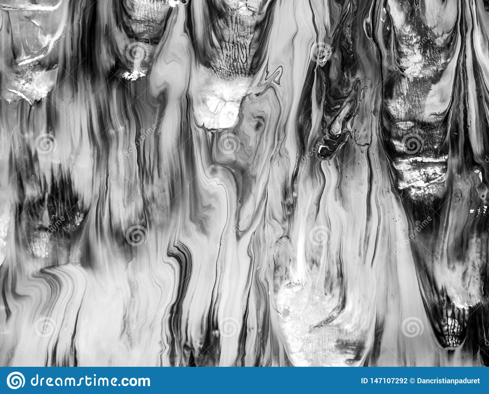 Black and White Paint Texture