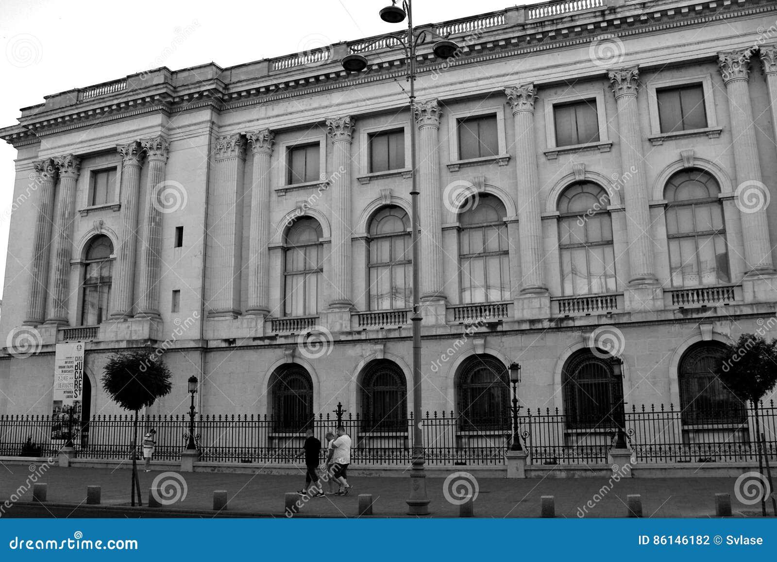 Black&White Palast des rumänischen Königs Carol I Bukarest - Bucuresti