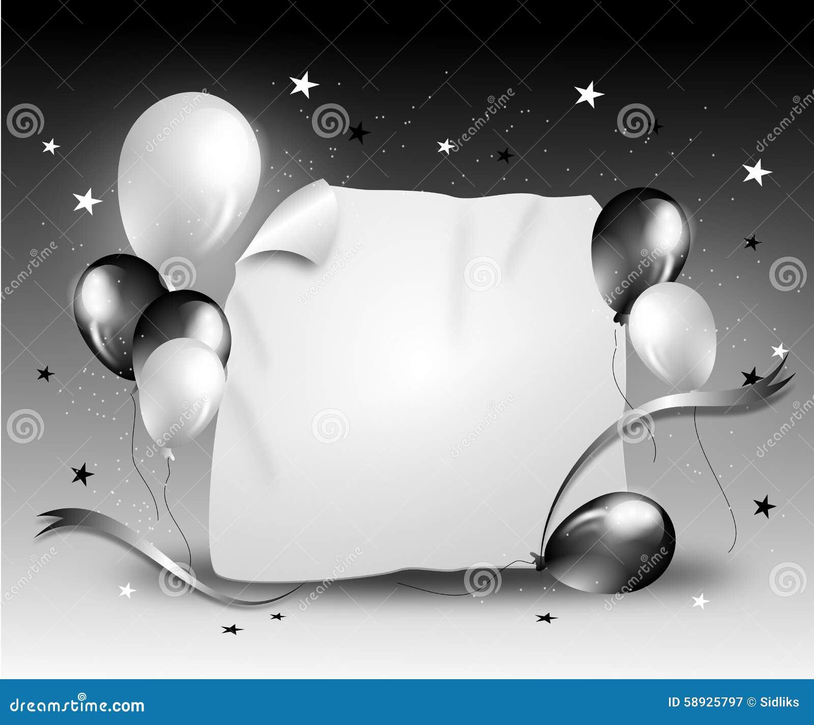 black white party background stock illustration illustration of