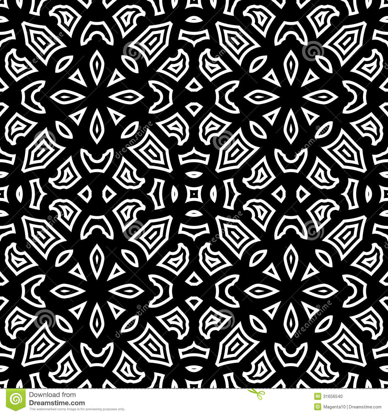 Black And White Pattern Stock Vector Image Of Floral