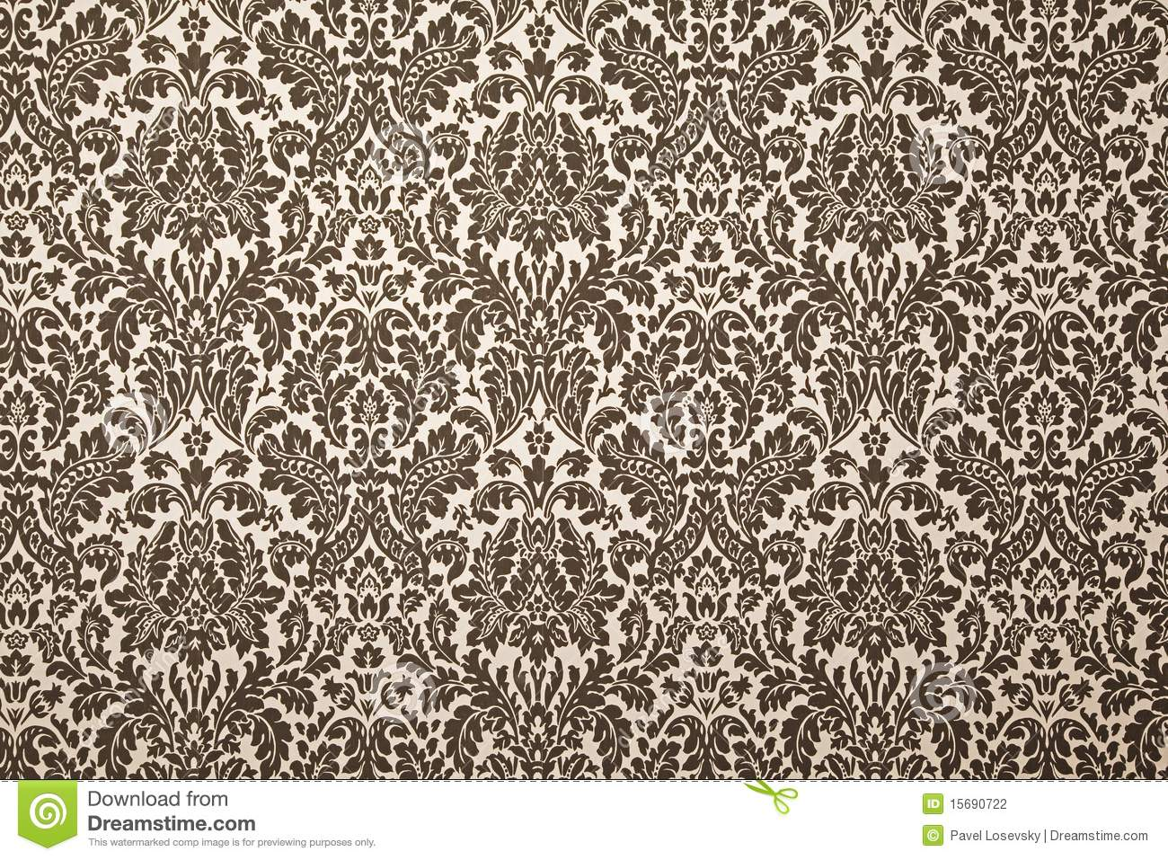 Black And White Pattern Wallpaper Stock Photography