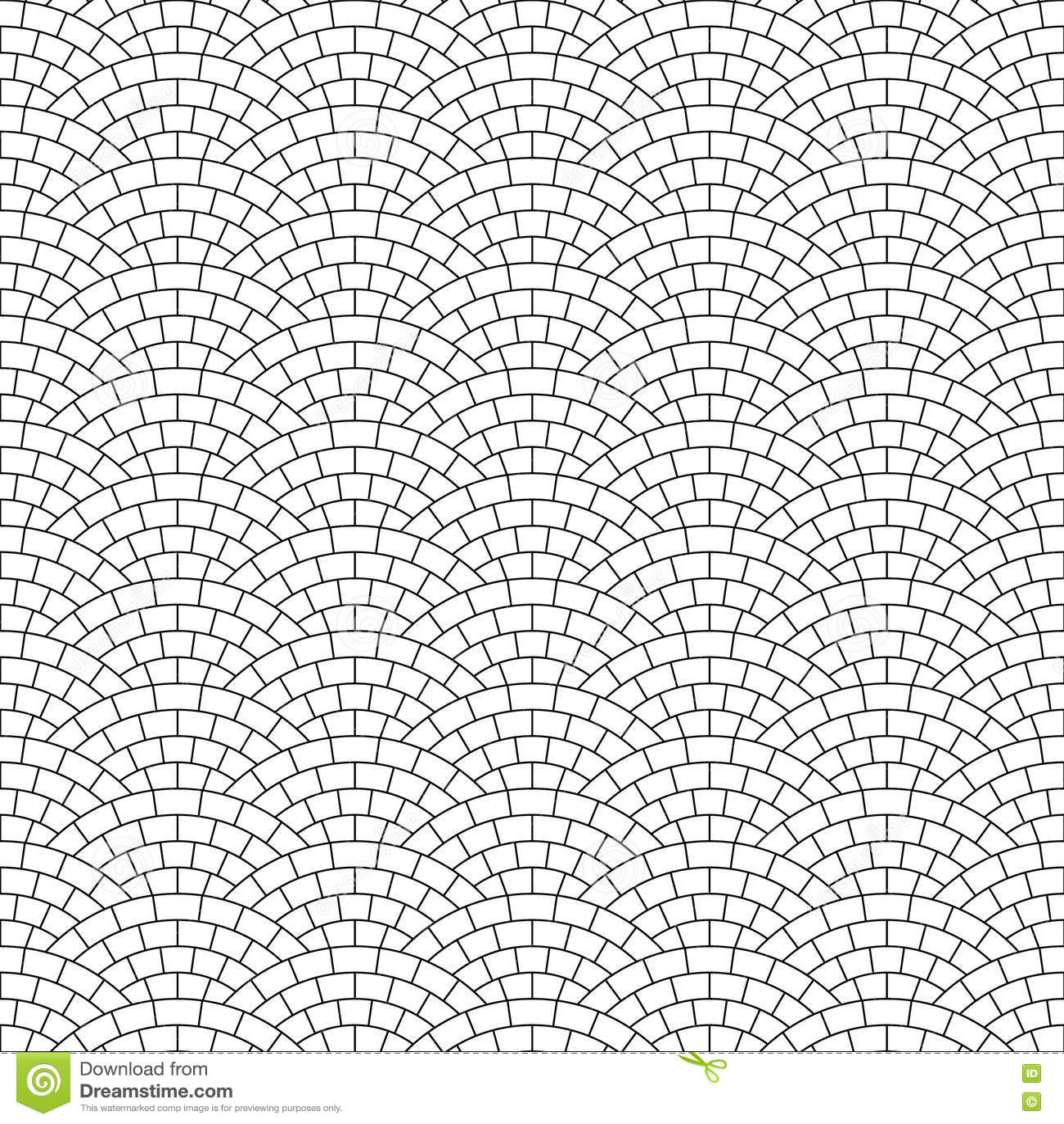 Black And White Pavement Stone Road Seamless Pattern