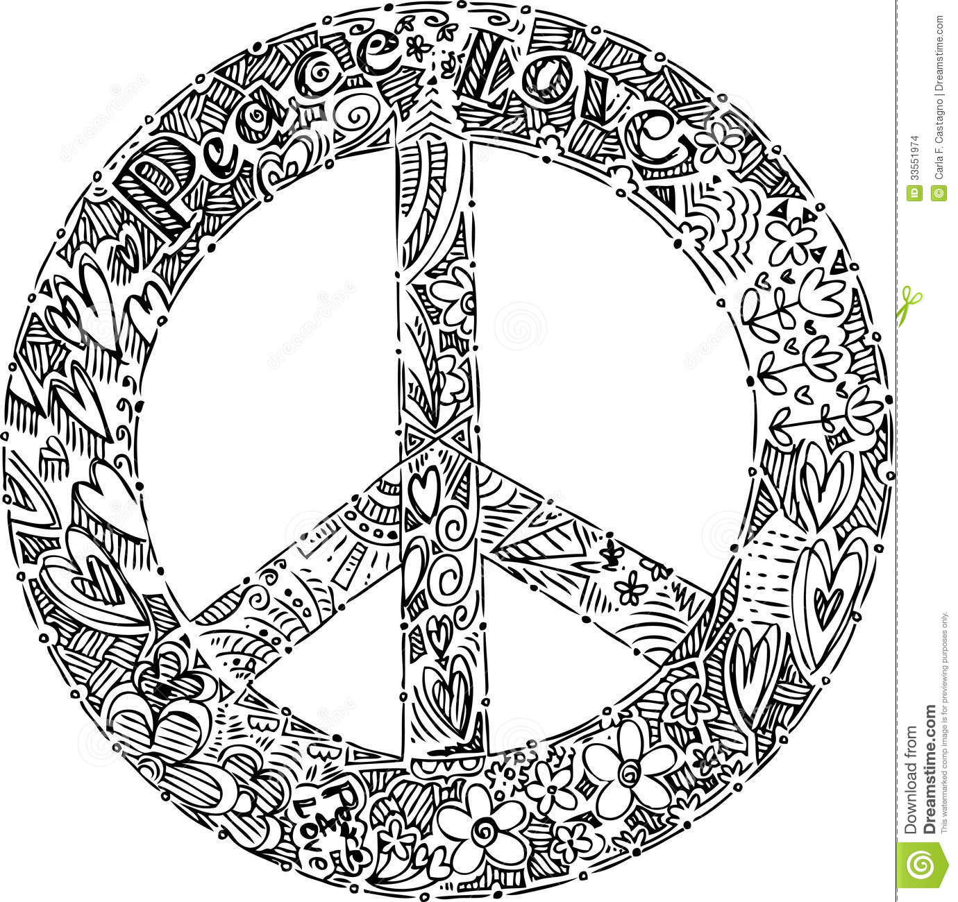 Coloring peace symbol vector stock images image 33551974 for Immagini vector