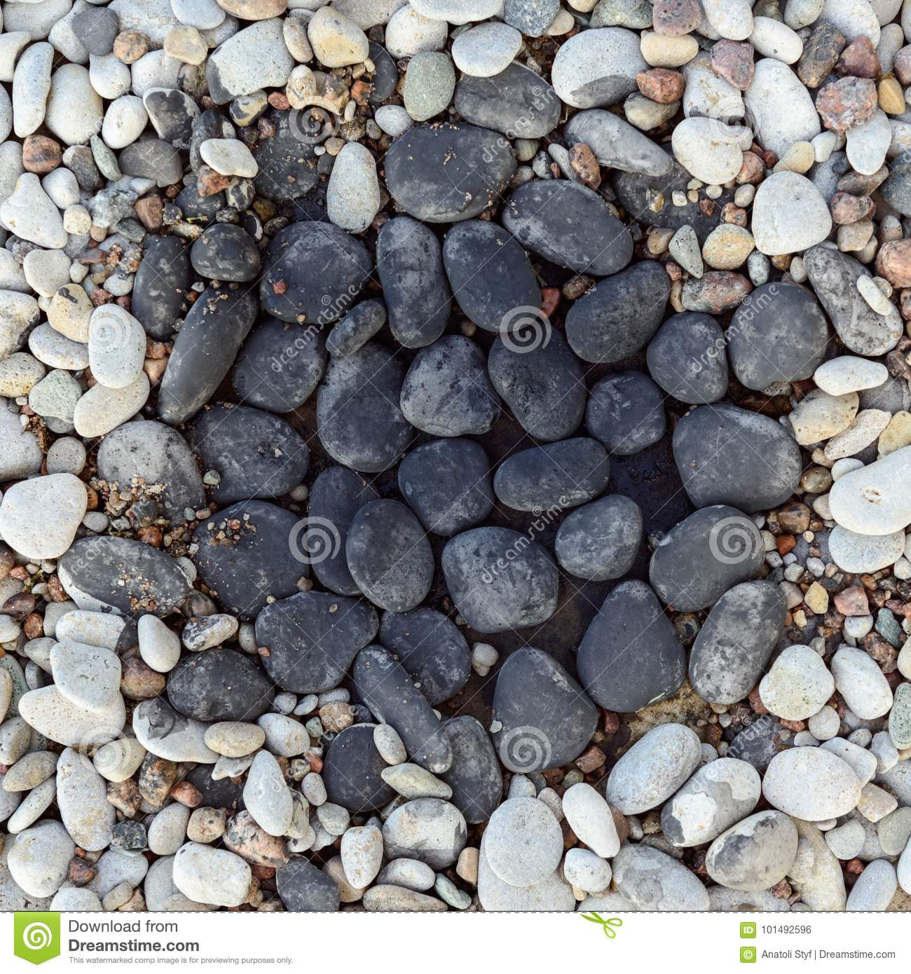 Download Pebbles In Rock Garden Stock Photo. Image Of Bend, Beach    101492596