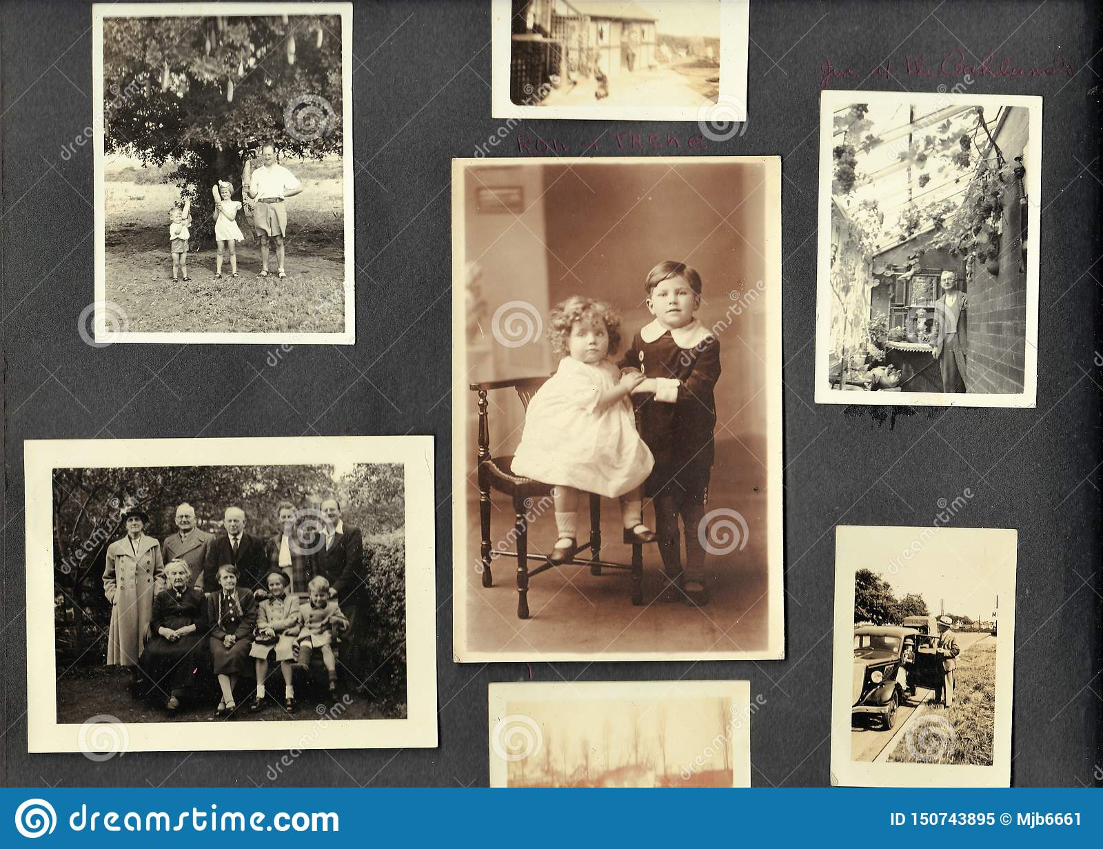 Black And White Photos From A Family Photo Album 1940s 1950s