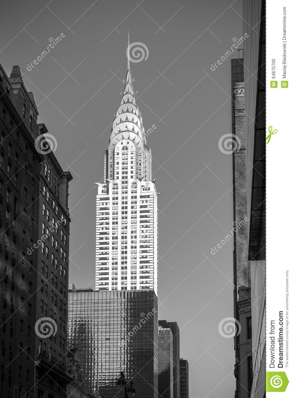 Black And White Picture Of The Chrysler Building