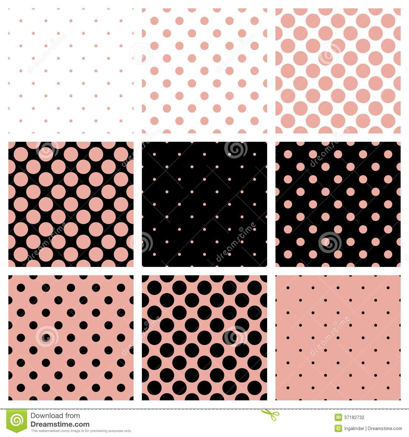Black white and pink vector background set with p