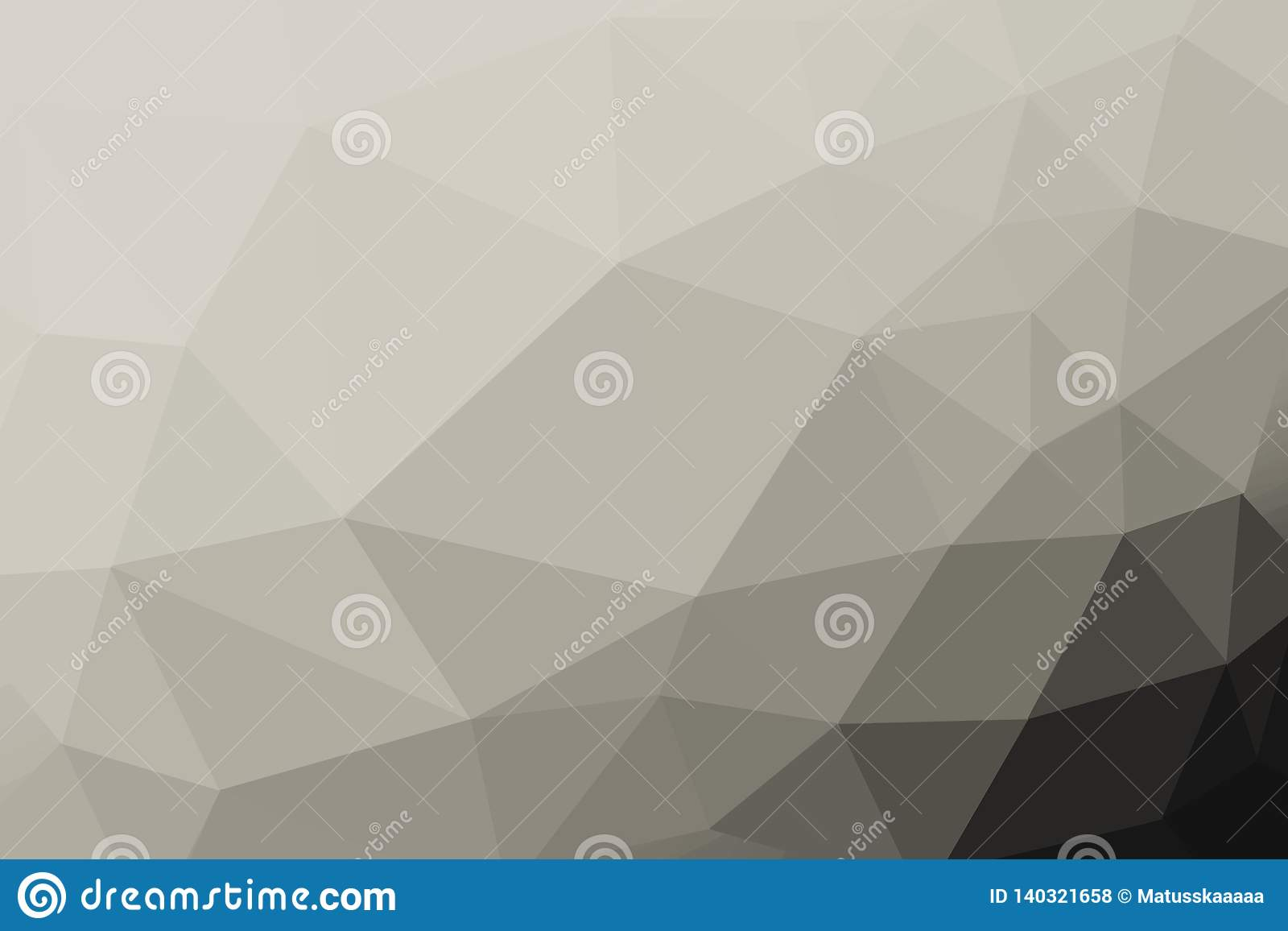 Black And White Platinum Gradient Triangle Background, Abstract