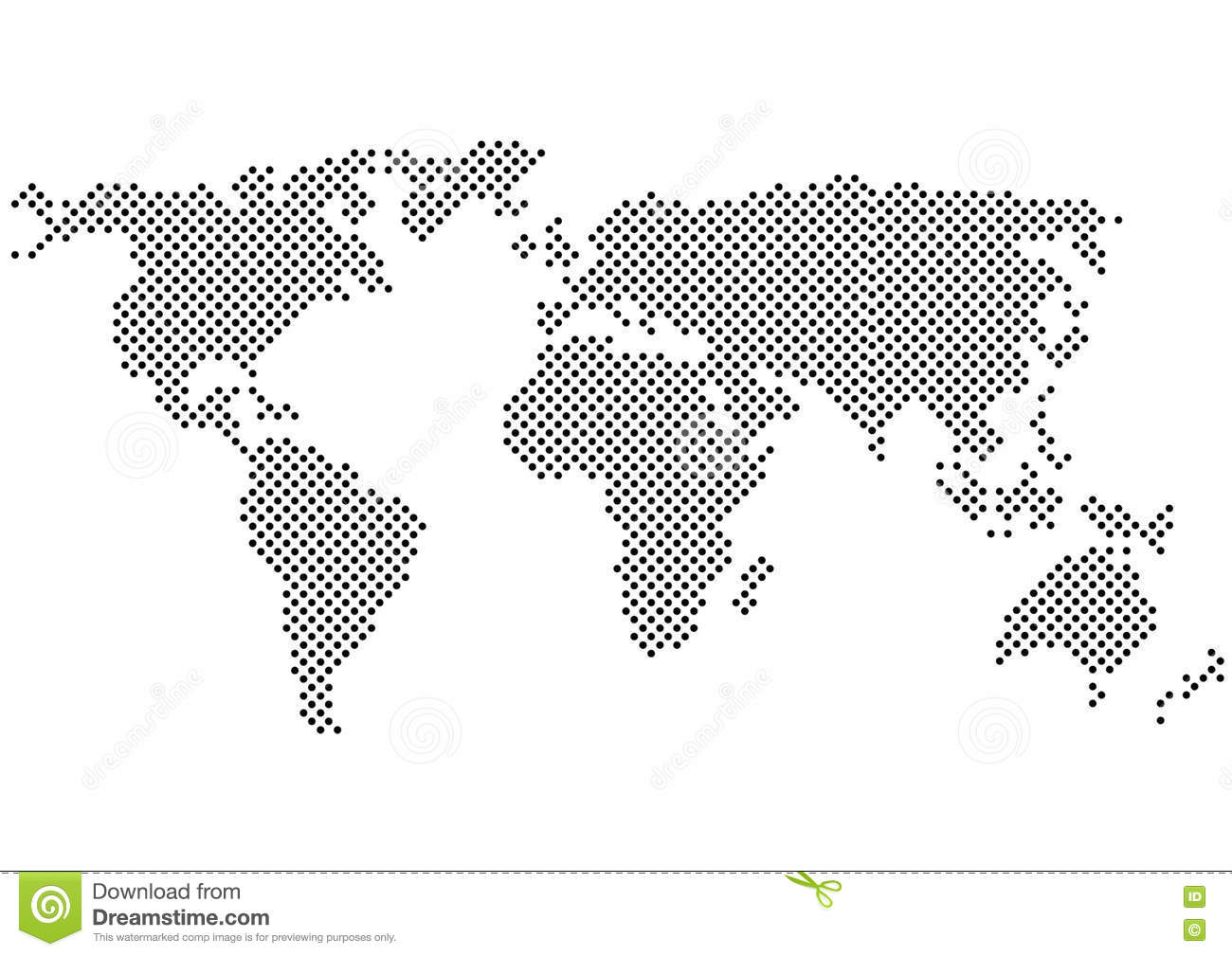 Black and white polka dots world map silhouette stock vector black and white polka dots world map silhouette royalty free vector download gumiabroncs Image collections