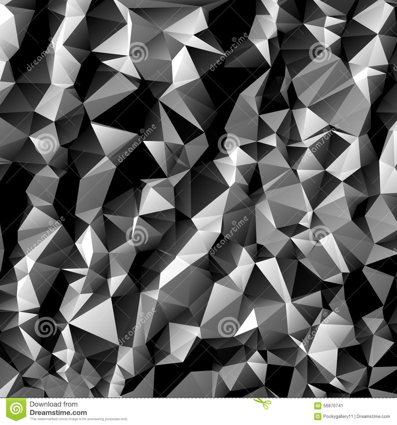 polygon texture wallpapers: Black And White Polygon Abstract Background Stock Vector