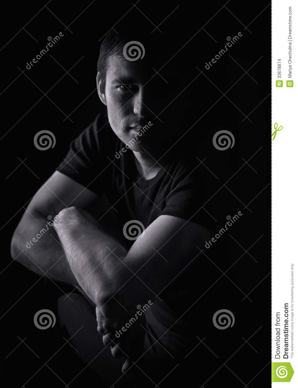 dramatic studio lighting. Black And White Portrait Of A Young Man Stock Photo - Image Brutality, Courage: 33678874 Dramatic Studio Lighting