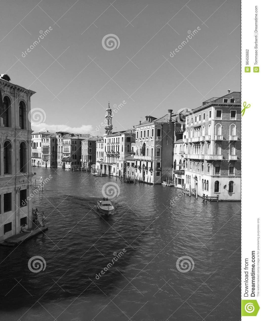 Black And White Postcard From >> Black And White Postcard From Venice Editorial Photography Image