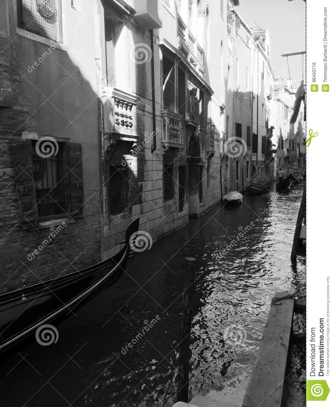 Black And White Postcard From >> Black And White Postcard From Venice Editorial Photo Image Of