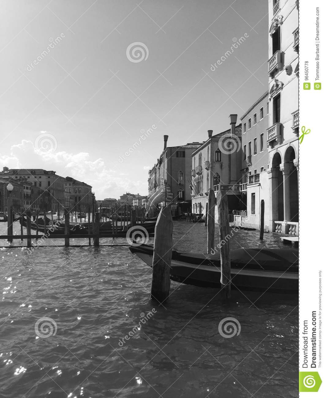 Black And White Postcard From >> Black And White Postcard From Venice Editorial Stock Photo Image