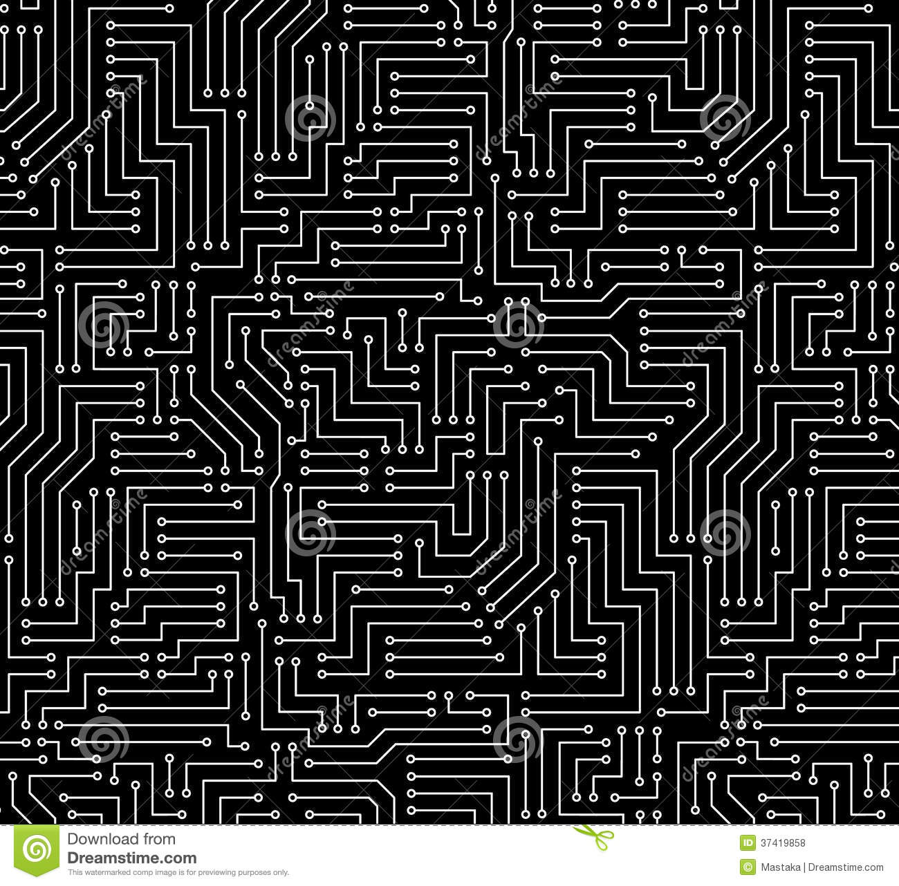 black and white printed circuit board royalty free stock photos