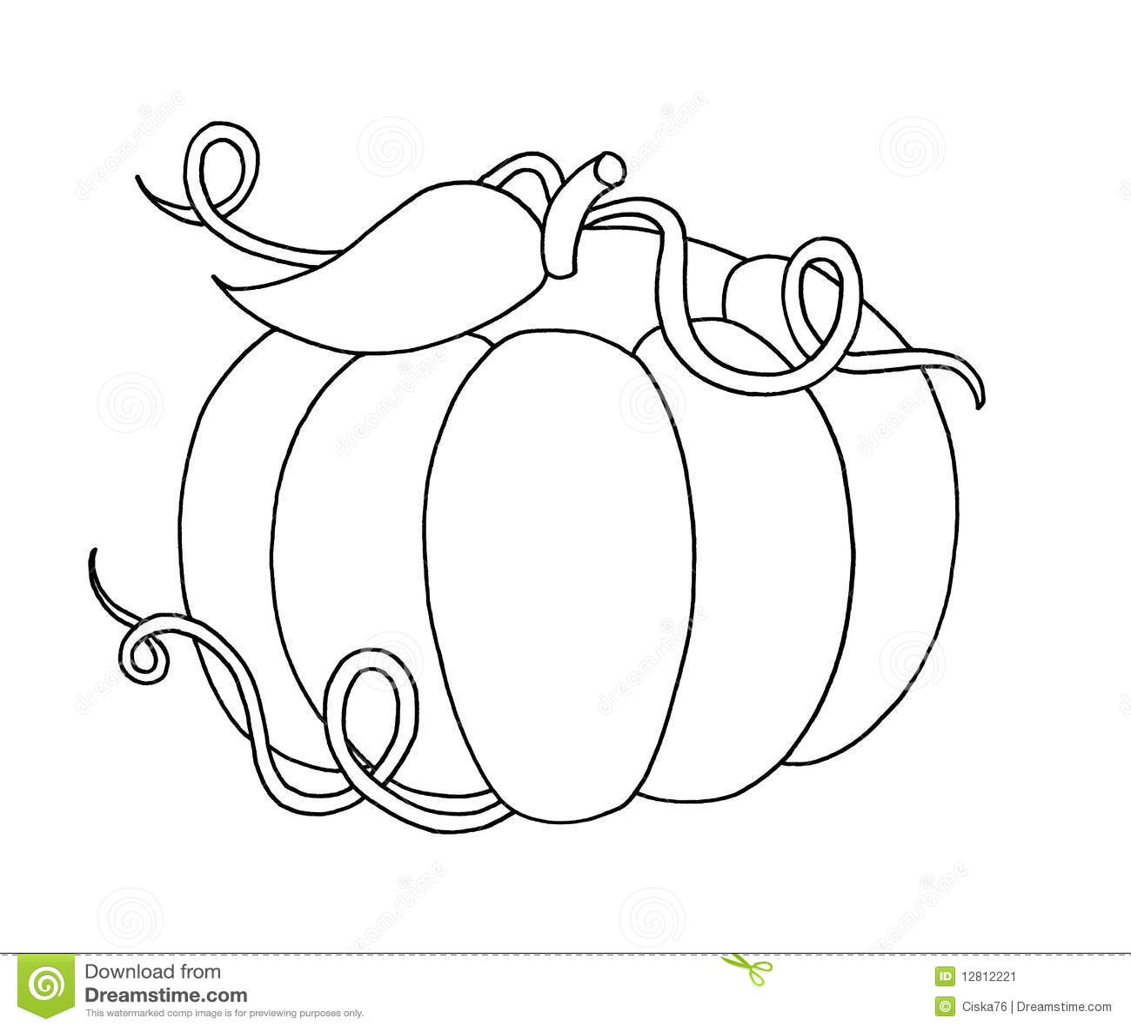Black and white - Pumpkin stock illustration. Illustration ...
