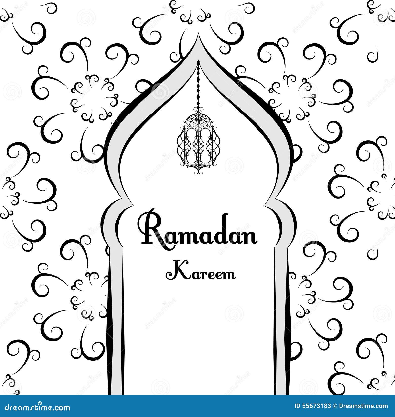Black and white ramadan greetings background ramadan kareem means black and white ramadan greetings background ramadan kareem means mosque vector illustration kristyandbryce Images