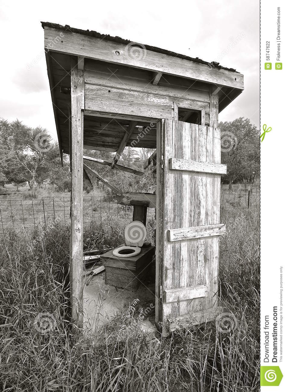 Black And White Rickety Old Outhouse Stock Photo Image 58747622
