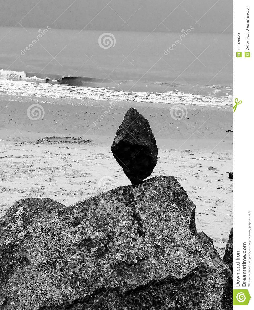 My hobby stone rock balancing playing with nature at hopton beach norfolk uk black and white