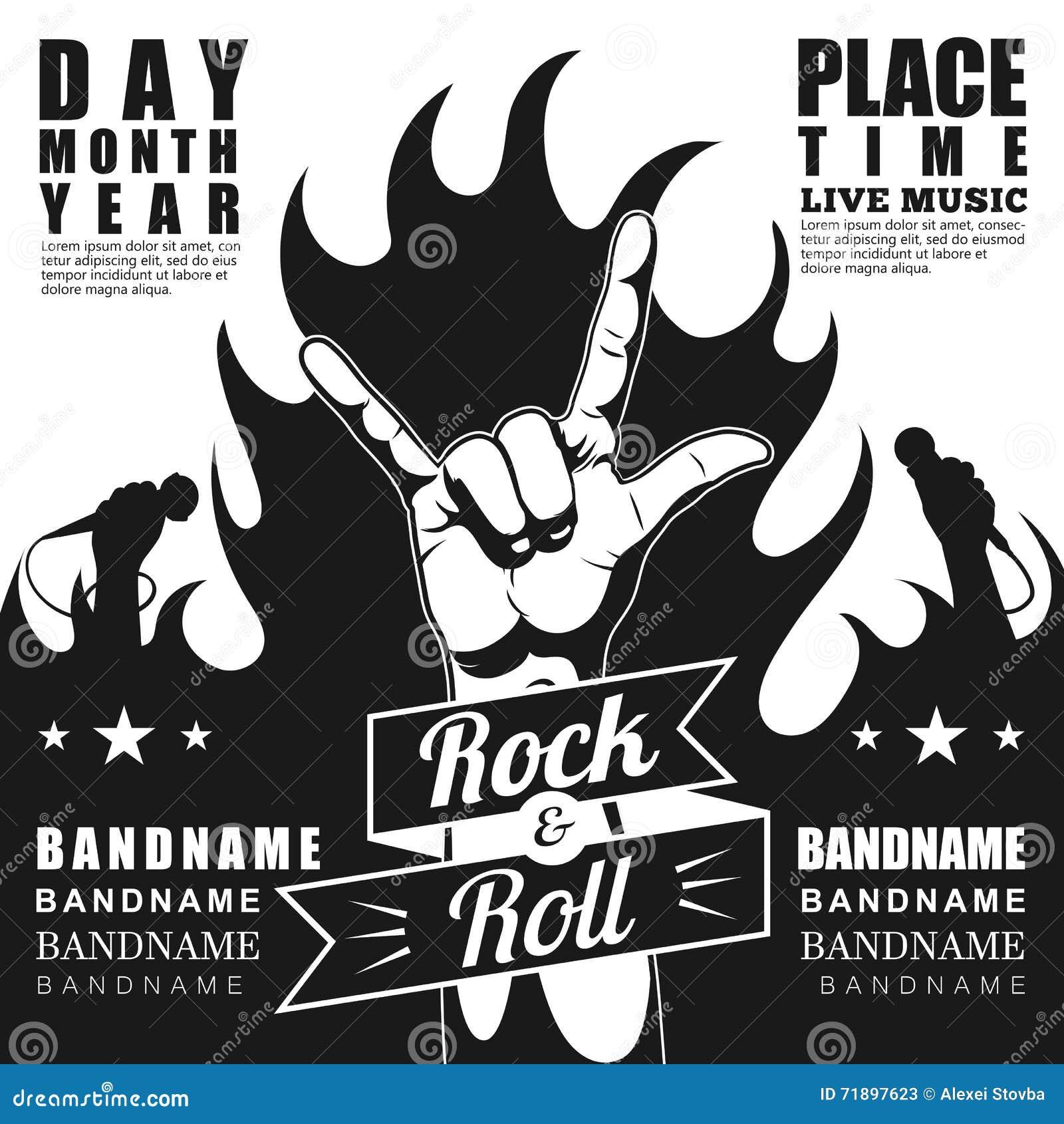Rock n roll poster design - Festival Poster Rock Roll