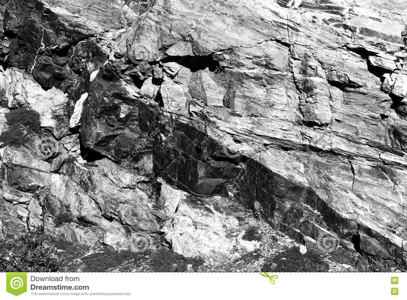Black And White Rock Texture Karst Background Stock Image ...