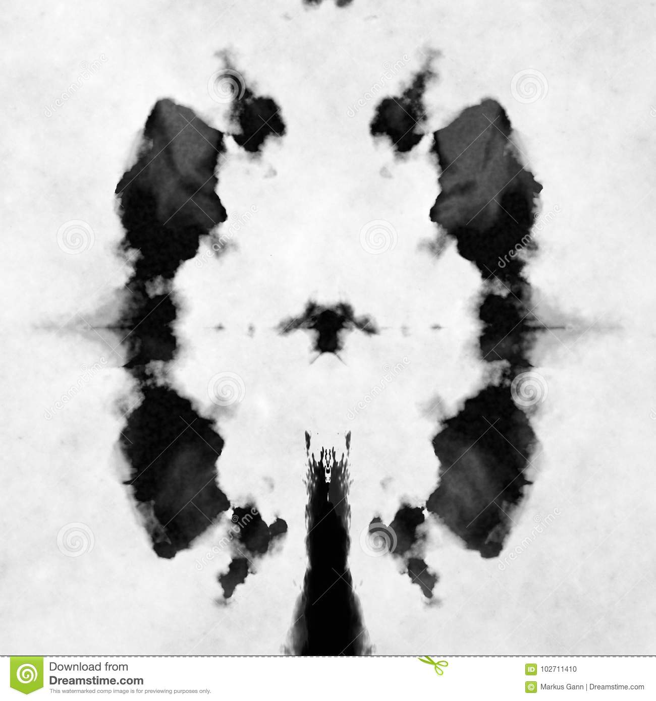 Black and white rorschach test