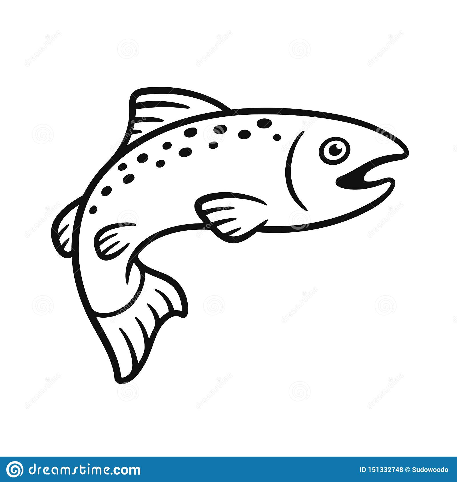 This is an image of Playful Fish Drawing Simple