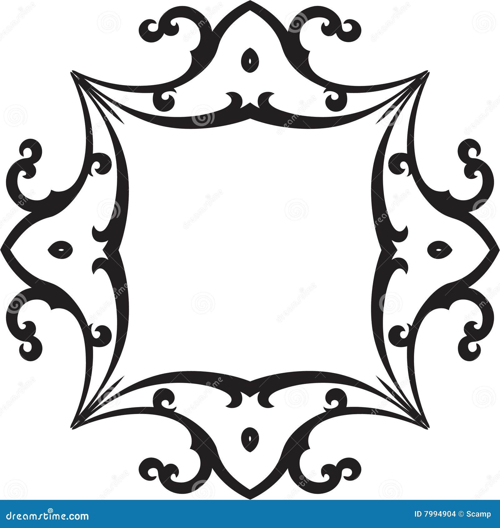 Black & White Scroll Frame stock vector. Illustration of cheerful ...