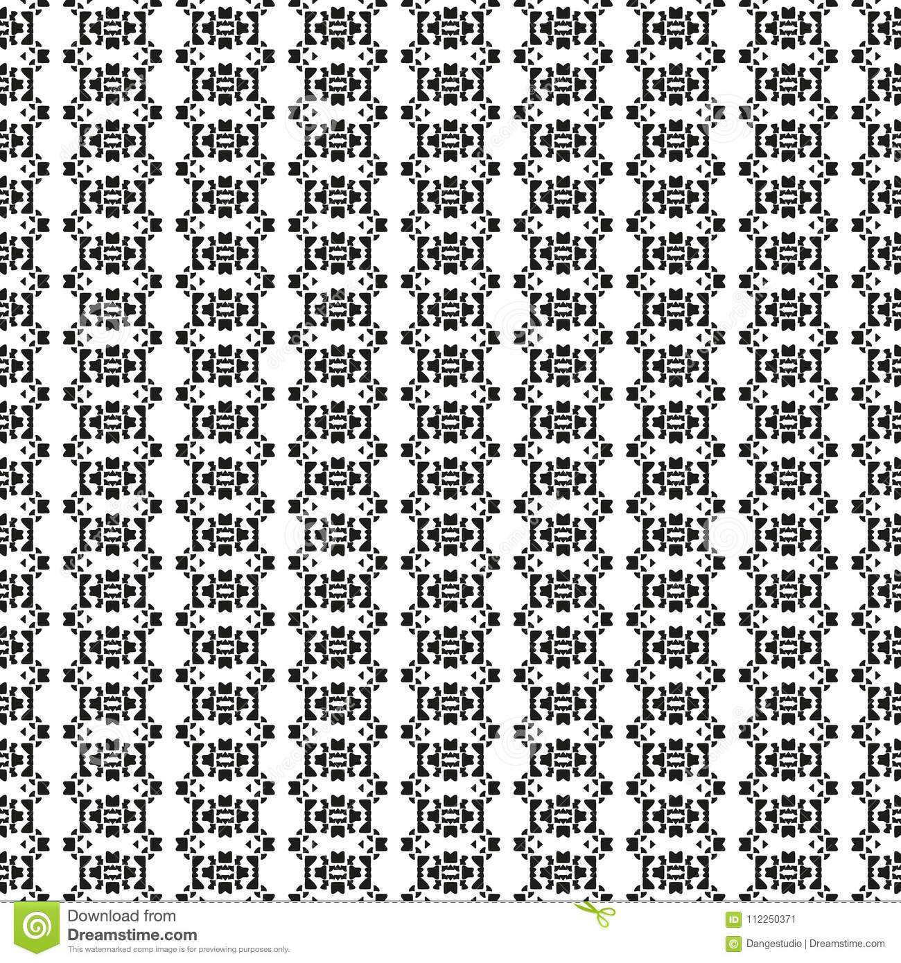 Black And White Seamless Ethnic Pattern Vintage Grunge Abstract Tribal Background For Textile Design Wallpaper Surface Textures Wrapping Paper