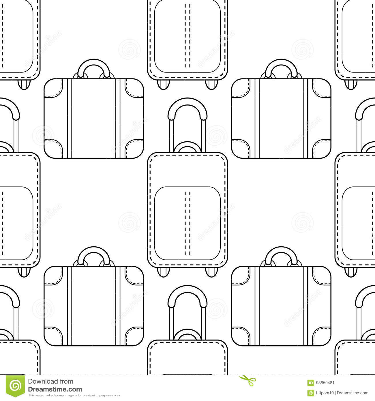 Black And White Seamless Pattern With Fashion Bags For
