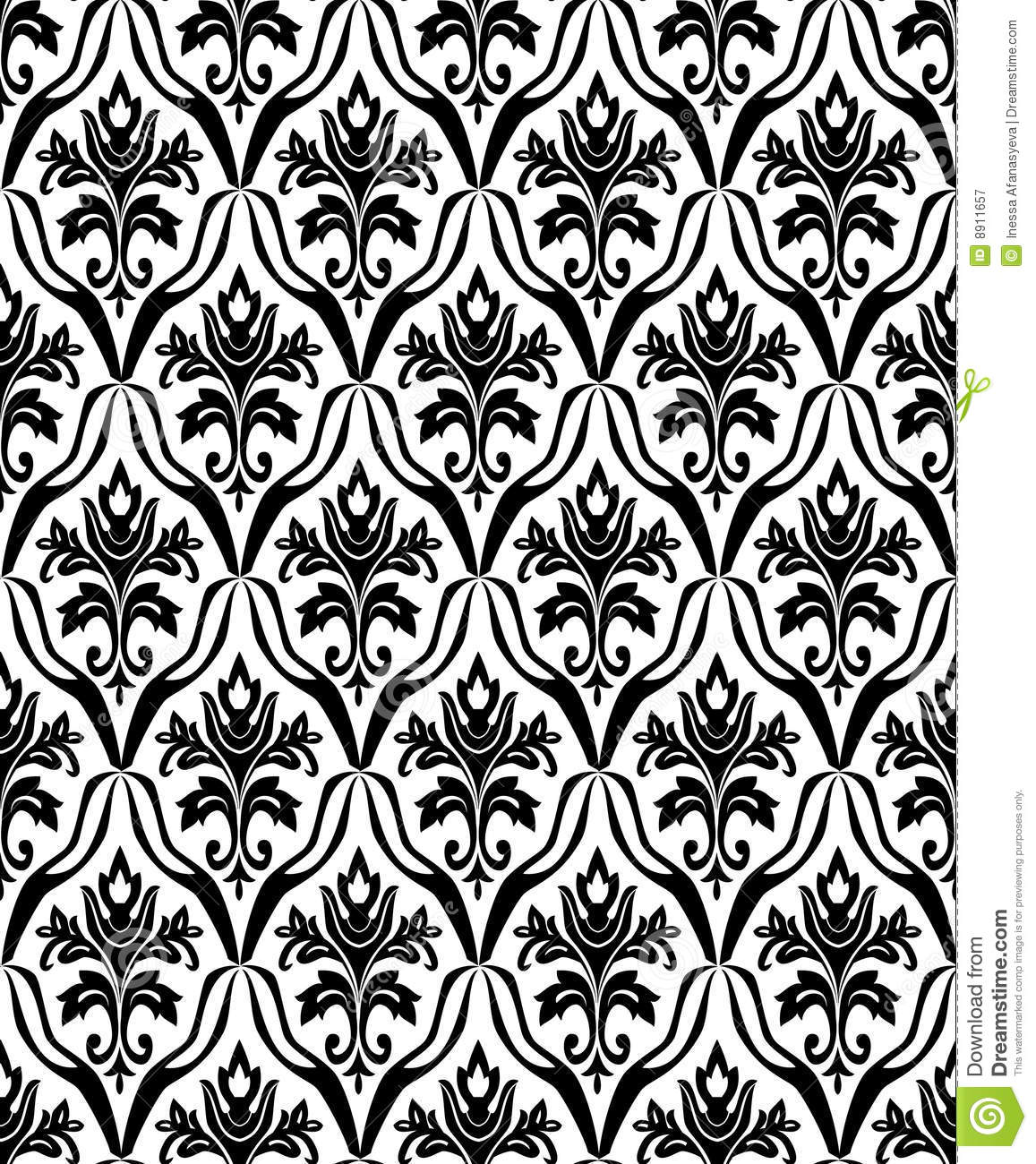 Black And White Photography Pattern : Black and white seamless pattern stock vector