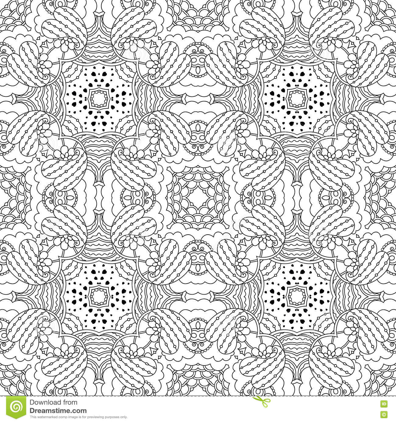 Black and white seamless pattern psychedelic stock vector black and white seamless pattern psychedelic lace culture kristyandbryce Gallery