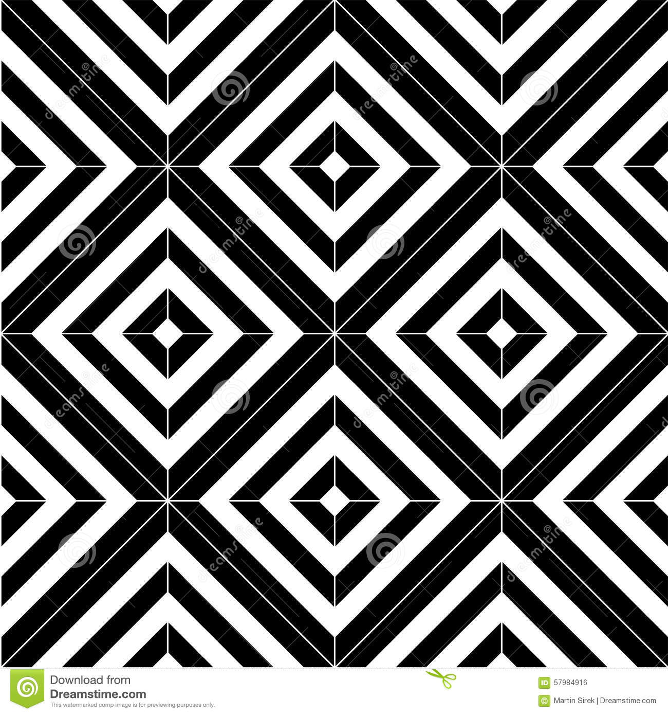 Black And White Seamless Pattern Tiles Stock Vector - Image: 57984916